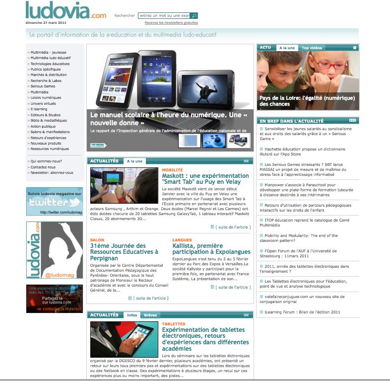 Nouvelle version de notre portail ludovia.com